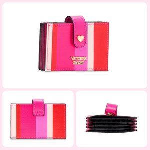Victoria's Secret Pink Striped Accordion Card Case